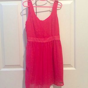 Abercrombie pink polyester kids dress, size small